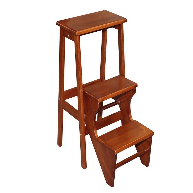 Home Pine Furniture Rubberwood Step Stool