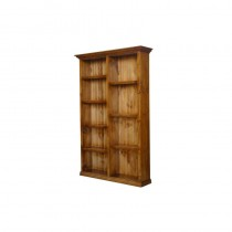 7X4 staggered bookcase colonial