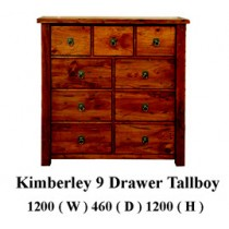 Kimberly 9 drawer tallboy